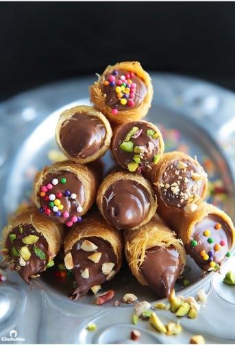 Nutella Konafa Cone By CleoButtera